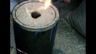 getlinkyoutube.com-ESTUFA CASERA DE LARGA DURACION/HOMEMADE STOVE