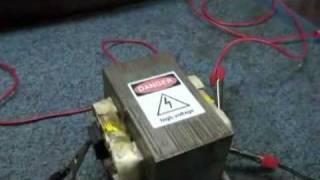 getlinkyoutube.com-MOT- Transformator od mikrofalówki