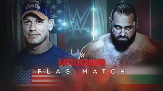 John Cena vs Rusev - Flag Match WWE Battleground Highlights