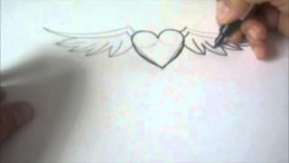 getlinkyoutube.com-wie zeichnet man ein Herz mit Flügeln