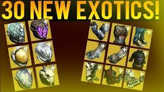 getlinkyoutube.com-Year 2 Exotic Armors - 30 NEW EXOTIC ARMOR PIECES ! - Destiny The Taken King