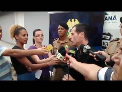Entrevista da força tarefa criada em Curitiba para prender os responsáveis pela morte do Tenente Alessandre