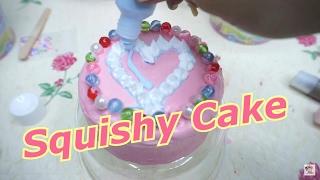 getlinkyoutube.com-เปิดตัวเซ็ตทำสกุชชี่เพ้นท์ เค้กครึ่งปอนด์แบรนด์ปาปาภา【 Cake Squishy 】By Papapha How To & Review