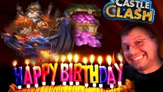getlinkyoutube.com-Castle Clash Birthday Live Stream Rolling 75K Gems