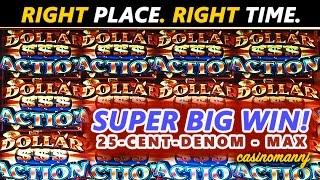getlinkyoutube.com-RIGHT PLACE. RIGHT TIME. **SUPER BIG SLOT WIN** - FUN Slot WINS!!! - Slot Machine Bonus
