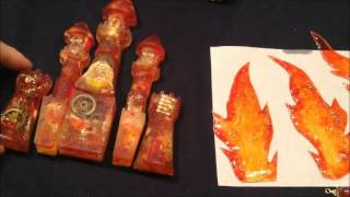 レジン☆「太陽の炎に包まれた城」100均のフォトフレームをアレンジしてみたResin