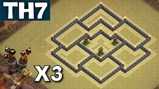 getlinkyoutube.com-TH7 War Base WITH 3 AIR DEFENCES Update Town Hall 7 Coc - Clash of Clans