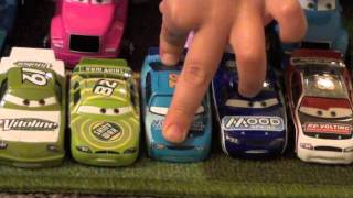 getlinkyoutube.com-Disney Pixar Cars Collection: Speedway of the South Collection & Haulers