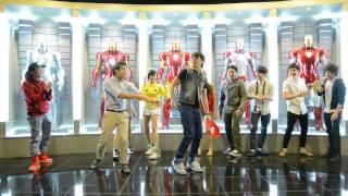 getlinkyoutube.com-Dance Freestyle in Iron Man room at new Yexel's Toy Museum