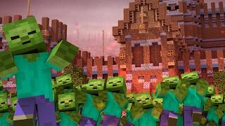 getlinkyoutube.com-Minecraft | ZOMBIE HORDE RULES THE WORLD! (Morph Hide and Seek)
