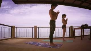 #YogaWithBeau : Sun Salutation by the ocean with #YogaWithBank