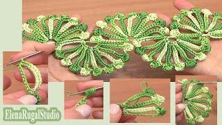 getlinkyoutube.com-Double Sided Large Shells Crochet Lace Tutorial 10 Crochet Shell Motifs
