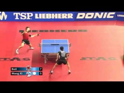Timo Boll vs Wang Xi[DTTL 2010/2011]