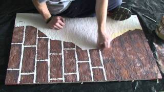 getlinkyoutube.com-Painting fake brick and plaster walls