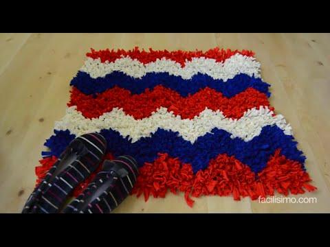 C mo hacer una alfombra de trapillo - Alfombras de bano ...