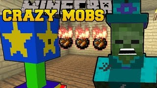 getlinkyoutube.com-Minecraft: CRAZY MOBS EVERYWHERE (ZOMBIE WITCHES, SPIDER PIGS & STAR TURRETS!) Mod Showcase