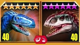 YUTYRANNUS Vs INDOMINUS REX - Jurassic World The Game
