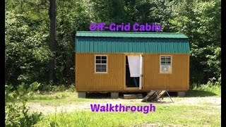 getlinkyoutube.com-Off-Grid Cabin Walk Through
