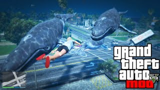 getlinkyoutube.com-GTA 5 Mods - WHALE TSUNAMI MOD! GTA 5 Whale & Tsunami Mod Funny Moments! (GTA V PC Mods)