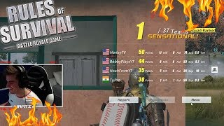 YouTube Squad WIN *ft NoahFromYouTube, Bobby Plays, & TuPro* (Rules of Survival #83)