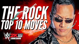 getlinkyoutube.com-The Rock Top 10 moves | WWE 2K16 Countdown
