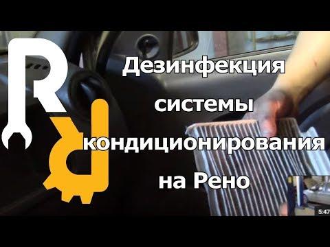 Дезинфекция кондиционера на Рено