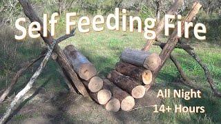 getlinkyoutube.com-Self Feeding Fire -  14+ Hour Fire