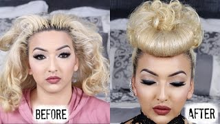 getlinkyoutube.com-Hair too dirty to style? THINK AGAIN! Ugly to Fabulous | Hair Tutorial
