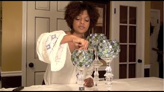 getlinkyoutube.com-Decorative Glass Candle Holders: Centerpiece - E2 part1