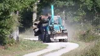 getlinkyoutube.com-Pfanzelt PM track 2395 & Remorque forestière (CUMA DE L'OR NOIR)