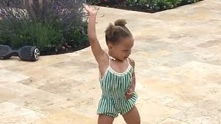 getlinkyoutube.com-Riley Curry Does Whip & Nae Nae Dance at Birthday Party