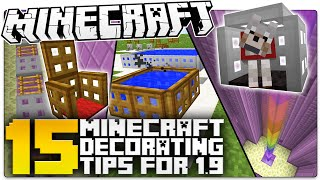getlinkyoutube.com-15 Minecraft 1.9 Decorating Secrets You NEED TO USE! (Minecraft Custom Builds)
