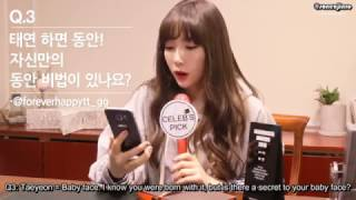 getlinkyoutube.com-[Eng Sub] Celeb's Pick - Interview with Taeyeon 161201