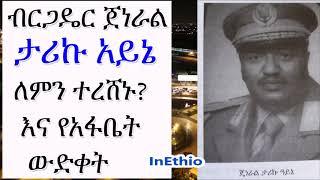 Ethiopia | ብርጋዴር ጀነራል ታሪኩ አይኔ ለምን ተረሸኑ? እና የአፋቤት ውድቀት (በተፈሪ አለሙ)