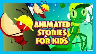 getlinkyoutube.com-Animated Stories for Kids - Cartoon Stories | Ant and Grasshopper | Short Stories for KIDS
