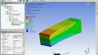 getlinkyoutube.com-Using ANSYS Workbench 12 to analyze the bending stress of a cantilevered beam