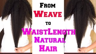 Weave To Waistlength Natural Hair - My Hairstory