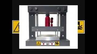 getlinkyoutube.com-Hydraulický lis pro domácí lisování rohlíkových boilies