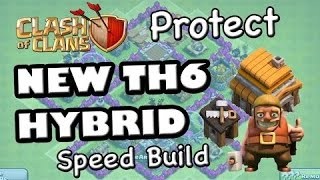 getlinkyoutube.com-Clash of Clans-TH6 Best Hybrid Base Defense With New Air Sweeper 2015!!