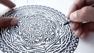 getlinkyoutube.com-Watch Me INK Mandala - A Page From My Color Book