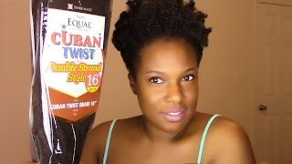 getlinkyoutube.com-Natural Hair: Freetress Equal Cuban Twist Hair {Show ~ N ~ Tell}