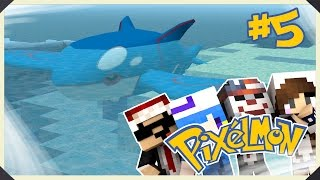 getlinkyoutube.com-Minecraft : Pixelmon #5 神獸蓋歐卡~我捉到啦!! w/水月歌