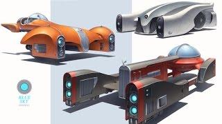 getlinkyoutube.com-Blender 3D|Концепт автомобиля класса люкс|The concept of luxury car|Part 1