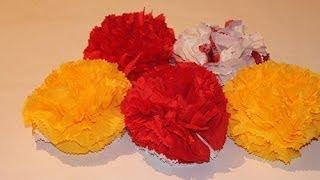 getlinkyoutube.com-Как сделать цветок из салфетки