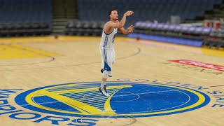 getlinkyoutube.com-Who Can Make a Half Court Shot First in the Curry Family? Seth, Steph, or Dell? Funny NBA2k Gameplay