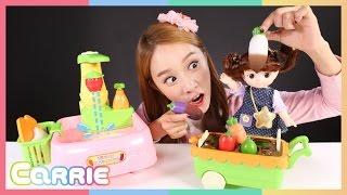 getlinkyoutube.com-콩순이 싱크대 야채씻기 장난감 으로 캐리의 소꿉놀이 CarrieAndToys