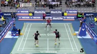 getlinkyoutube.com-Top 15 doubles badminton rallies 2015