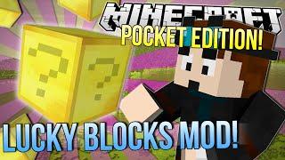 getlinkyoutube.com-Minecraft Pocket Edition | LUCKY GOLD BLOCKS MOD | Mod Showcase 0.9.5
