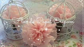 getlinkyoutube.com-Flor de Papel Crepom