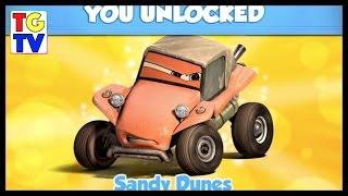 getlinkyoutube.com-Disney Pixar Cars RS 500 Sandy Dunes Unlocked | Cars Fast as Lightning